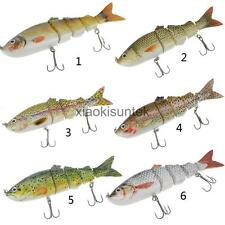Multi Jointed Spinning Carp Bass Fishing Lures Fish Bait Tackle Hook Crankbaits