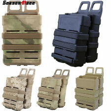Airsoft FastMag Pistol M4 5.56 Mag Pouch Set Tactical Magazine Bags Holster