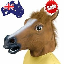 Cosplay Halloween Horse Head Mask Latex Animal Party Costume Prop Toy Novel MG
