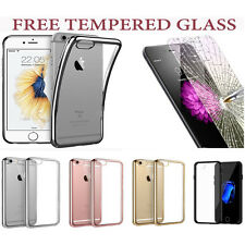 Crystal Clear Case Cover For New iPhone 7+Tempered Glass Screen Protector