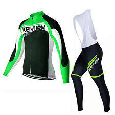 Mens Cycling Jersey & Bib Pants Set Cycling Clothing Top & Long Bib Tights Kits