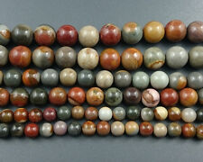 natural gemstone rainbow picture jasper beads round loose beads 6mm 8mm 10mm