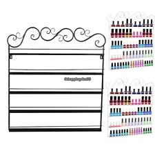 Wire Metal Nail Polish Display Organizer Wall Rack Fit up To 95 Bottles HOT