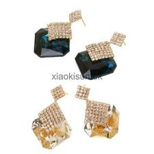 Shine Crystal Rhinestone Elegant Statement Stud Drop Earrings for Women Jewelry