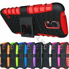 Dual Layer Rugged Hybrid Grip Hard Kick Stand Case For Galaxy S5,S6,S7,S8,s8+