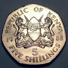 KENYA 5 SHILLINGS 1985  KM#23  SAVE FREE COMBINE S&H read