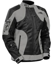 Castle Ladies Prism Gray/Black Mesh Vented Street Motorcycle Riding Jacket