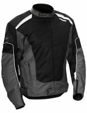 Castle Men's Turbine 2 Gray/Black Mesh Textile Street Motorcycle Riding Jacket