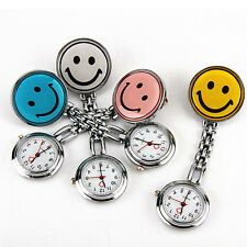 Funny Portable Nurse Fob Brooch Fobwatch Watch Smile Face Kids Children Day