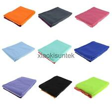 Non Slip Yoga Towel Mat Grip Absorbent Pilates Fitness Washable Blanket Widen