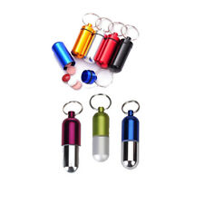 Waterproof Pill Fob Box Cash clip Aluminum Stash Case Keychain Keyring Key Chain