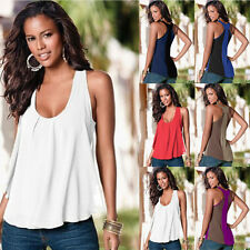 Sexy Women Summer Sleeveless Loose Chiffon Vest Cool Tank T-Shirt Top Blouse Hot