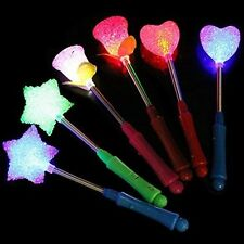 New ! LED Flashing light up stick Colors Glow Rose Star Wand Party Concert Favor