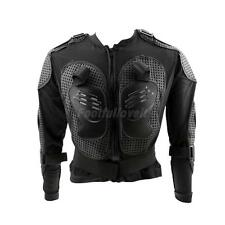 Motorcycle Full Body Armor Jacket Motocross Racing Spine Chest Protector Black