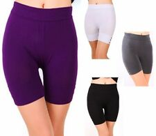 Womens Stretch Seamless Legging Shorts Polyester Workout Tight Yoga Gym Sport