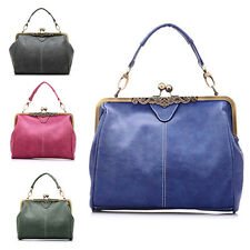 Durable Women Retro PU Leather Messenger Tote Bag Shoulder Bag Clutch Handbag AU