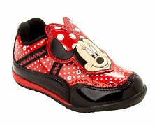 GIRLS OFFICIAL DISNEY MINNIE MOUSE RED BLACK TRAINERS SHOES INFANTS UK SIZE 6-12