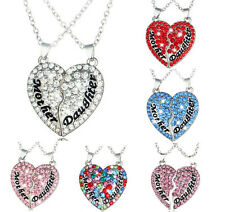 Gift Alloy Clavicle Chain Heart-Shaped Necklace Jewelry Pendant Fashion Crystal