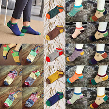 High 1 Pair Ankle Crew Mens Cotton Sport Socks Low Cut Casual Color Sock Fashion