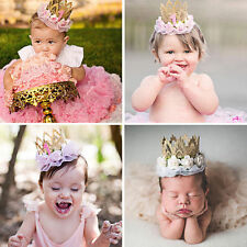 Fashion Kids Girl Baby Lace Flower Crown Headband Hair Band Accessories Headwear