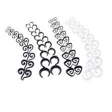 9Pair Acrylic Spiral Ear Taper Stretcher Plugs Expander Gauges Earring Accessory