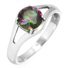 925 Sterling Silver Ring Mystic Topaz Gemstone Unique Jewelry Size 7 cg23514
