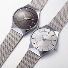 Fashion Men's Stainless Steel Band Military Sport Dial Analog Quartz Wrist Watch