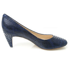 NEW Sensational Soles Bethany Navy Leather Heels Ladies Larger Size Shoes Sizes