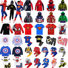 Super Hero Kids Boys Clothes Spiderman Hoodies T-shirts Tops Pants Outfits Set