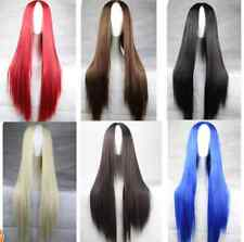 Fashion Long Straight Women's Long Cosplay Party Wigs Heat Resistant Full Wigs