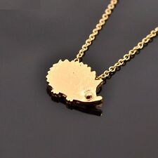 Silver Gold Plated Hedgehog Necklace Little Cute Animal Pendant in Gift Bag/Box