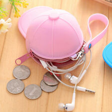 Funny Baseball Cap Shape Silicone Coin Purse Mini Coin Wallets Change Purse Bag