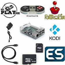 RetroPie Game Console, Raspberry Pi 3, Wireless Controller NES30 Pro, 16GB 64GB