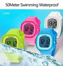 Waterproof Girl's LED Digital Sports Watches Silicone Quartz Wrist Watches