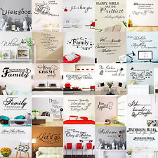 H Vinyl Home Room Deco Art Quote Wall Decal Stickers Bedroom Removable Mural DIY