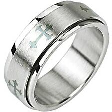SPIKES 316L Stainless Steel Celtic Cross Spinner Ring