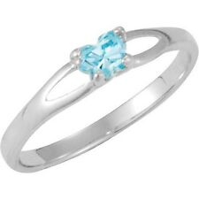 Sterling Silver March CZ Birthstone Youth Ring by Bfly