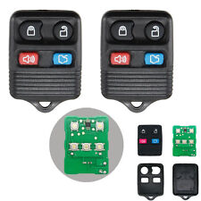 2pcs Remote Keyless Entry Replacement fit for Ford Mercury 4 Button Key Fob LOT