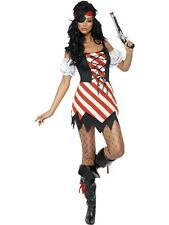 Adult Sexy Lace Up Caribbean Pirate Lady Fancy Dress Costume Hen Party Outfit