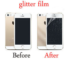 2PC Front/Back Silver Glitter Screen Protector Film Cover For iPhone 5S 6S 7Plus