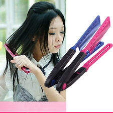 1Pc Salon Hairdress Styling V Comb Hair Straightener Flat Irons Straightening AU