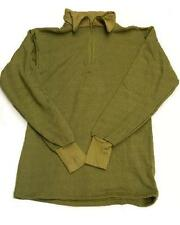 Norwegian Shirt Dutch Military Issue Olive Zip Top thermal Norgie Base layer New