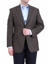 Ralph Lauren Classic Fit Olive Brown Plaid Two Button Wool Blazer Sportcoat