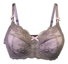 Ladies Non Padded Wire Free Floral Lace Pink Beige Mastectomy Post Surgery Bra