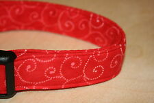 Red Swirls Adjustable Dog Collars & Martingales & Leashes & Cat Collars