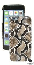 PELGIO Genuine Python Snake Skin Leather iPhone 7 Hard Case Back Cover Natural
