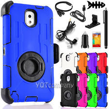 Rugged Hybrid Impact Hard Case Soft Cover Clip Holster for Samsung Galaxy Note 3