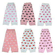 Fashion Baby Toddler Kid Girl Pink Hearts Leggings Socks Tights Arm Leg Warmers
