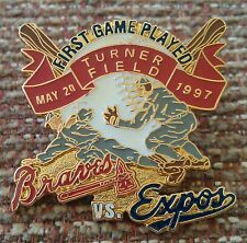 ATLANTA BRAVES vs MONTREAL EXPOS First Game Played TURNER FIELD Lapel Pin