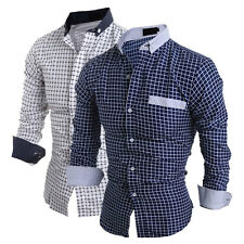 Fashion Men's Long Sleeve Casual Shirt Slim Fit Formal Dress Shirts Tops Stylish